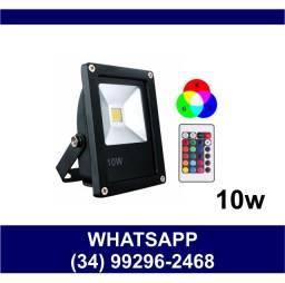 Refletor Holofote Led Colorido RGB 10w Prova Dágua