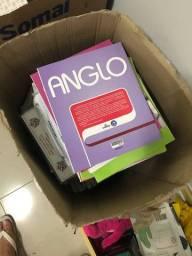 Caixa de livros anglo