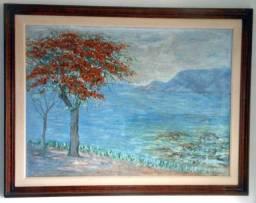 Título do anúncio: Tela do famoso pintor italiano Gianni Micheletto assinada em perfeito estado.