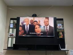 Rack tv na cor preta