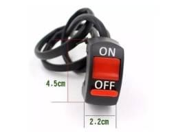 Botão Interruptor On Off Farol Auxiliar Milha Moto On/off