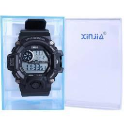 Relógio G Digital Xinjia Masculino esportivo de pulso Shock a Prova D´água c/ caixinha