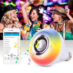 Título do anúncio: Lâmpada Led caixa de Som Bluetooth Rgb 12w com Controle Remoto