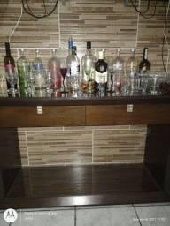 Bar sala, apoiador. Com duas gavetas, e dois vidros lindo