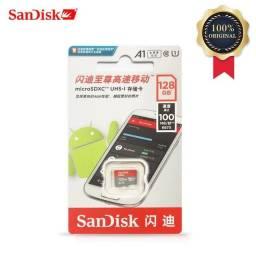 Cartão MicroSD 128GB SanDisk Ultra Micro SDXC + Adaptador SD ORIGINAL