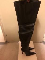 Bota Over The Knee Italiana Couro Legítimo