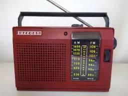 Rádio antigo Am FM pilha e luz