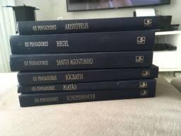 Coleção de livros dos maiores pensadores