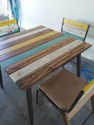 Título do anúncio: Mesa com 4 cadeiras em MDF