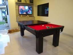 Título do anúncio: Mesa de Bilhar Diver Slim Maciça Tecido Vermelho Modelo LFF2354