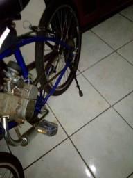 Bicicleta motorizada 80cc seminova, pneus novos de fábrica, top