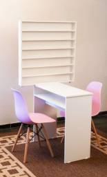 Kit esmalteira (acompanha mesa +esmalteira+2 cadeiras)