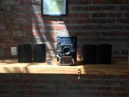 Aparelho de som Sony Genezi + 4 caixas de som selenium