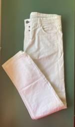 Calça branca off white pull & bear - tam G