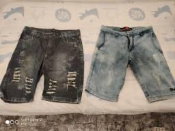 Vendo duas bermudas jeans