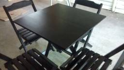 Título do anúncio: Conjunto de mesa dobrável