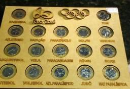 Lindo e Completo Quadro das Peças Olímpicas