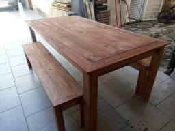 Mesa grande em pinus(estilo rústico)