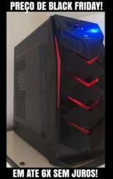 PC Gamer em até 6x s/ juros! CPU Amd 4 núcleos|8GB|500GB HD|Plc.Vid:Radeon HD7650|C/Games!