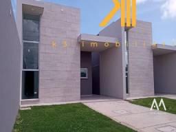 Casa em Eusébio-CE, 3 quartos sendo 1 suíte, Banheiro social, Garagem com 3 vagas.