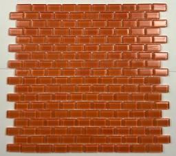 Pastilha de Vidro Orange Brick 30x30