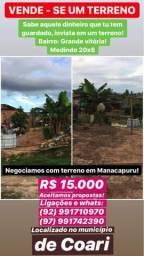 Negócio terreno em Coari por outro em Manacapuru