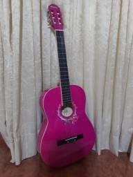 Violão rosa super novo