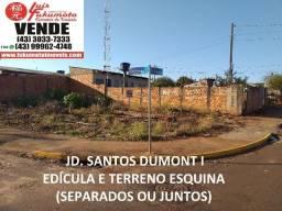 Apucarana - Jd. Santos Dumont - Edícula e Terreno de Esquina