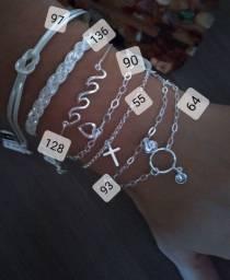 Vendo pulseiras de prata 925 com garantia