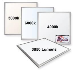 Painel Luminária Slim LED 48w 62x62cm Forro Modular ou Gesso