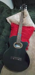Violão preto (Nicol) com cordas de nylon