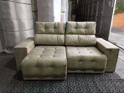 Sofá Retrátil e Reclinável 3 Lugares New York Premium Veludo