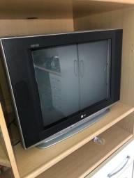 Televisão tela plana..