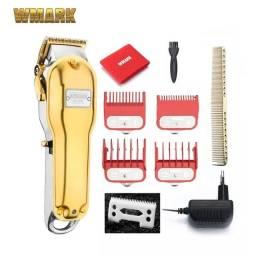 Maquina De Cortar Cabelo Barba Wmark Ng 2020 Dourada Profissional Cordless