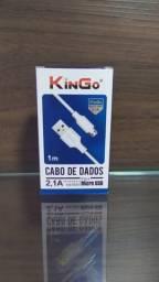 Cabo de Dados Micro USB 2.1A Kingo 1M