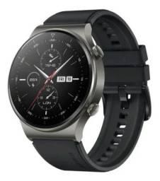 Novo<br><br>Relogio Inteligente Huawei Gt2 Pro,vid-b19,black,Amoled+CERÂMICA+TITÂNIO+SAFIRA <br><br><br>