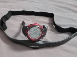 Kit Relógio  masculino  e monitor Cardíaco  pr/cinta