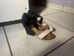 Sandália de salto Moleca