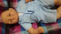 Bebezao raro fisch toys olhos verdes 58cm