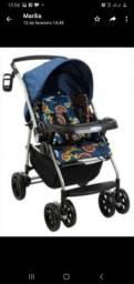 Carro de bebê borigoto azul novo