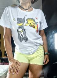 Camiseta tshirt baby look feminina