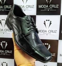 Sapato social - couro Legítimo com cadarço
