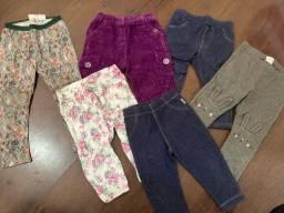 Lote calças menina (a partir de 6 meses)