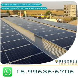 Energia Solar - Sistema com Micro Inversor - 480 kWh Geração Média Mensal