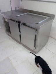Balcão freezer e geladeira