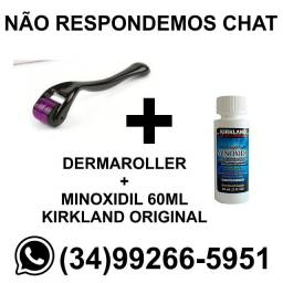 Kit para Barba e Cabelo - Dermaroller + Minoxidil Kirkland Original * Fazemos Entregas