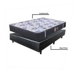 Conjunto Box Casal de Base + Colchão Espuma D33 - Só R$899,00