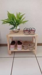 Título do anúncio: Mini Sapateira de madeira pinus 4 pares