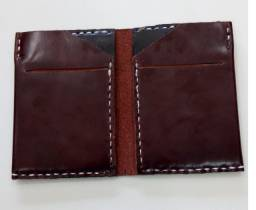 Carteira couro legitimo masculina, artesanal, habilitação, RG, documento para carro