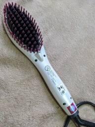 Escova alisadora de cabelo